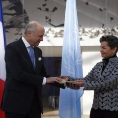 REMISE DES CLÉS À L'ONU PAR LAURENT FABIUS