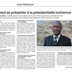 Il veut se présenter à l'élection présidentielle ivoirienne