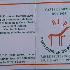 Carte de Membre du PIP